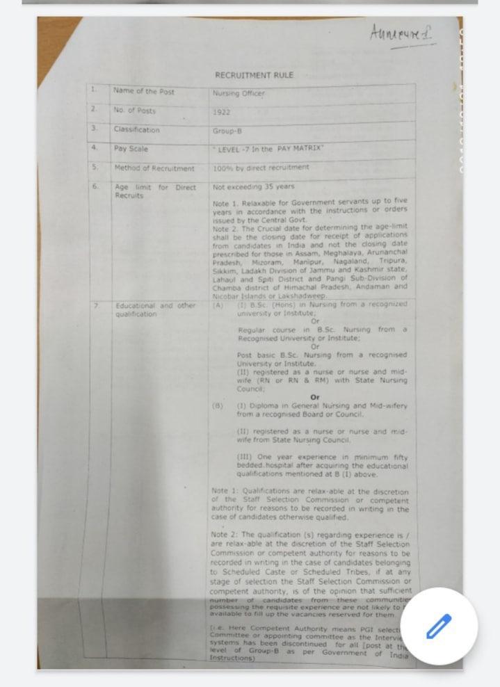 PGIMER Released Nursing Posts | mannatacademy.com pgimer released nursing posts PGIMER Released Nursing Posts AA