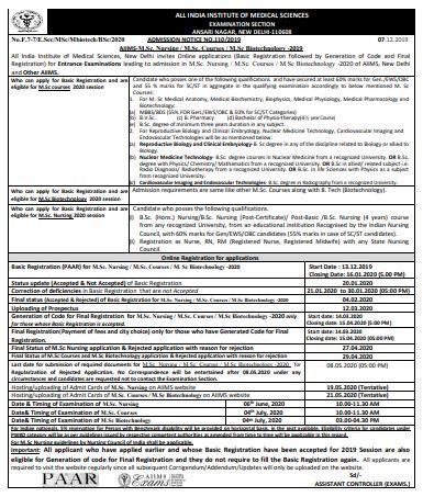 AIIMS Delhi M.Sc Nursing | mannatacademy.com