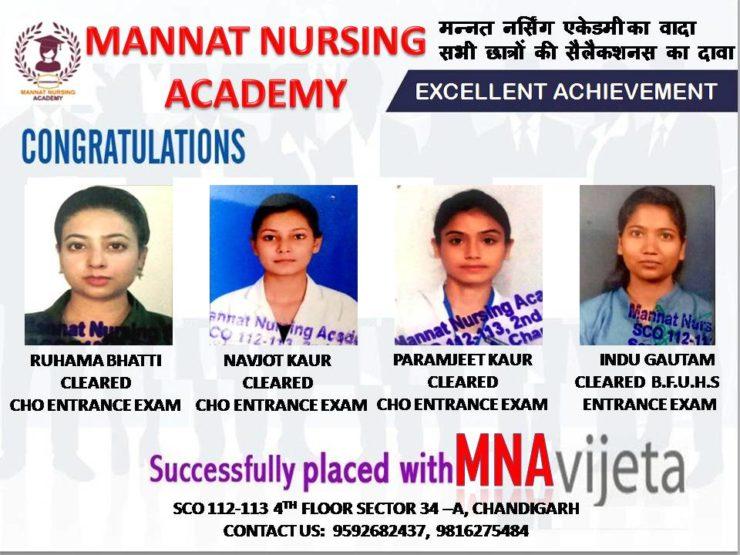 Mannat Academy Great Achievement | mannatacademy.com