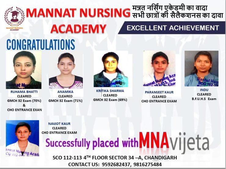 Winner : Mannat Nursing Academy   mannatacademy.com
