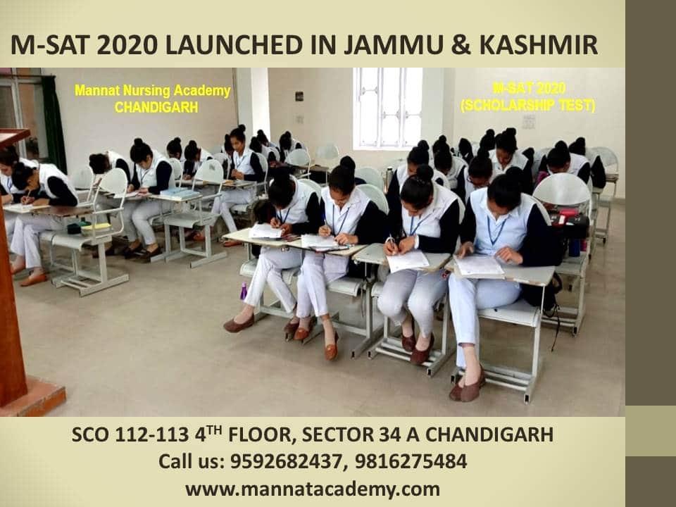 M-SAT 2020 Launched in jammu & Kashmir | mannatacademy.com